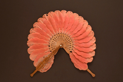 Cockade Fan; c. 1870; LDFAN2012.15
