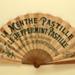 Advertising fan for La Menthe/Peppermint Pastille liqueurs; Ganné, J; c.1905; LDFAN2003.425.HA