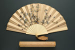 Folding Fan & Box; c. 1880; LDFAN2006.81.A & LDFAN2006.81.B