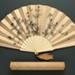 Folding Fan & Box; c. 1880; LDFAN2006.81.A & LDFAN2006.81.B