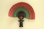 Fixed Fans (Pair); c.1960; LDFAN2003.146A.Y & LDFAN2003.146B.Y