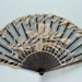 Black pique folding fan with lace leaf France, c. 1900; LDFAN2014.32