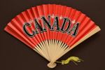 Souvenir fan for the country, Canada; c. 1970s; LDFAN2006.5