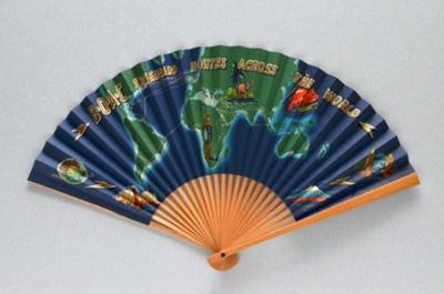 Folding fan for BOAC Speedbird c. 1950; LDFAN2003.441
