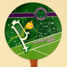 Advertising fan for Perrier and commemorating Wimbledon 2000 ; ADFANS; 2000; LDFAN2001.54