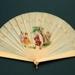 Ivory brise fan, painted German, c. 1870; LDFAN2003.265.Y