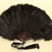 Feather Fan & Box; c.1880-90; LDFAN1993.24.1 & LDFAN1993.24.2