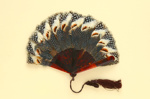 Feather Fan & Bag; LDFAN1988.16 & LDFAN1988.16.5