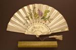 Folding Fan & Box; c. 1870; LDFAN1999.32