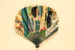 Advertising fan for The Hotel Cecil; Grellet, Georges; 1920s; LDFAN2013.30.HA