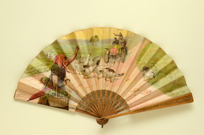 Advertising fan for Restaurant Larue; c.1906; LDFAN2003.96.Y