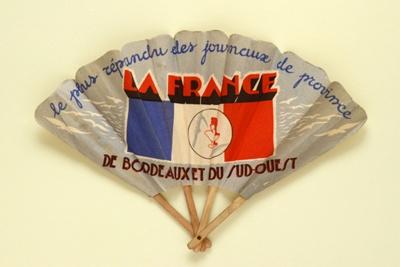 Advertising fan for 'La France' newspaper; 1930s; LDFAN1994.193