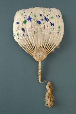 Fixed Feather Fan; c. 1900; LDFAN1998.35