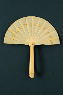 Half-Cockade Fan; 1920s; LDFAN2001.37