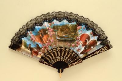 Folding Fan; c. 1960; LDFAN2003.459