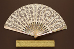 Folding Fan & Box; c. 1890; LDFAN1997.5