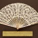 Folding Fan & Box; c. 1900; LDFAN1997.5