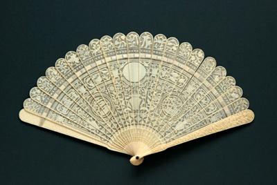 Ivory Brisé Fan, Chinese; c.1820; LDFAN2008.38