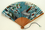 Advertising fan for Japan Air Lines; c. 1960; LDFAN1998.2