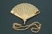 Brisé Fan; c. 1920; LDFAN2003.81A.Y & LDFAN2003.81B.Y