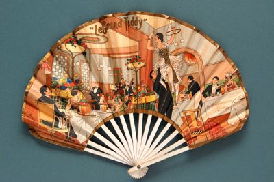 Advertising fan for Le Grand Teddy Restaurant; Eventails Chambrelent, Pierre Mourgue; c. 1920; LDFAN2012.87