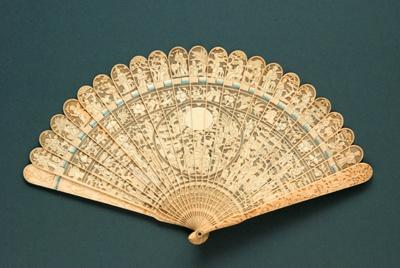 Ivory Brisé Fan, Chinese; 1830s-1840s; LDFAN1991.32