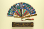 Folding Fan & Box; c. 1870s; LDFAN1990.1.1 & LDFAN1990.1.2