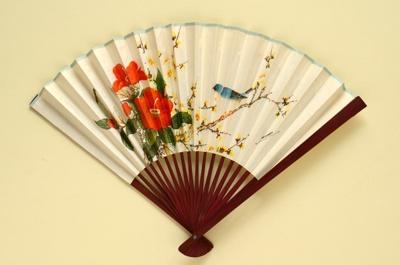 Folding Fan; c. 1980; LDFAN1994.38