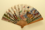 Folding fan advertising Cliquot champagne.; Leloir, Maurice, Camis & Co., Paris; c. 1905; LDFAN2003.422.HA