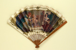 Advertising fan for La Marquise de Sévigné; Valier, Paul, Leloir, Maurice; c. 1905; LDFAN2011.63