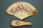 Palmette Fan & Box; c. 1850-60; LDFAN1992.79