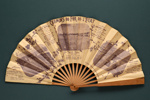 Advertising fan for Chemins de Fer de l'Etat; Ettlinger, Paris, Bourgerie & Co., Paris; c. 1900; LDFAN2003.414.HA