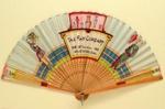 Souvenir fan for The Fan Company; 1956; LDFAN2008.30