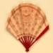 Advertising fan for the Carlton Hotel, London; Maquet; c. 1910; LDFAN2013.38.HA