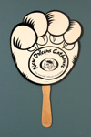 Advertising fan for New Orleans Cathouse; LDFAN1991.95