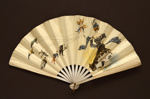 Folding fan advertising The Grand Folkestone hotel; Robert; Buissot Eventails; c. 1906; LDFAN2013.9.HA