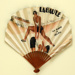 Folding fan advertising La Baule and Contrexéville; c. 1930; LDFAN2011.38