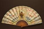 Folding fan advertising Chemins de Fer de l'Ouest; Ganné, J; 1908; LDFAN2003.401.HA