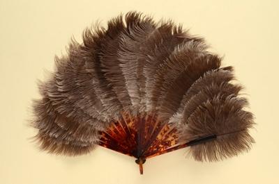 Feather Fan; c. 1920-1930; LDFAN1996.42