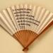 Folding fan printed with a poem by Judith Herzberg; LDFAN1998.20