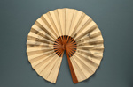 Cockade fan leaf - no sticks Japan, c. 1900; LDFAN2003.347.Y