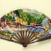Folding fan advertising Brides-les-Bains, France; L Philippi; 1930s; LDFAN2003.165.Y