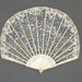 Forme Ballon folding fan with lace leaf decorated with sequins c. 1920; LDFAN2003.271.Y