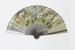 Wooden fan with printed paper leaf marked Garnier Perroncel; c. 1900; LDFAN2015.72