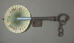 Cockade fan in the shape of a key; c. 1890; LDFAN2019.22