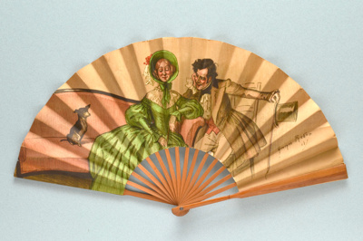 Folding fan advertising the Carlton Hotel Georges Redon, c. 1900; LDFAN2013.114 (JS61)