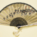 Folding fan with fabric leaf, imitation Japanese Spanish, c. 1960; LDFAN2000.14