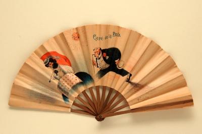 Advertising fan for Café de la Paix; Raoul Vion; c.1905; LDFAN2011.18