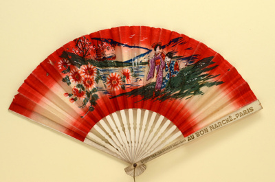 Advertising fan for Au Bon Marché, Paris; LDFAN1992.57