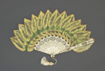 Palmette fan with Begonia Rex Leaves ; c. 1890; LDFAN2019.13